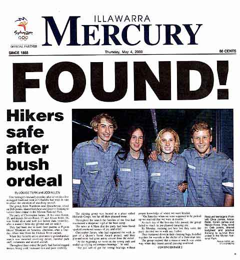 Front page of the Mercury