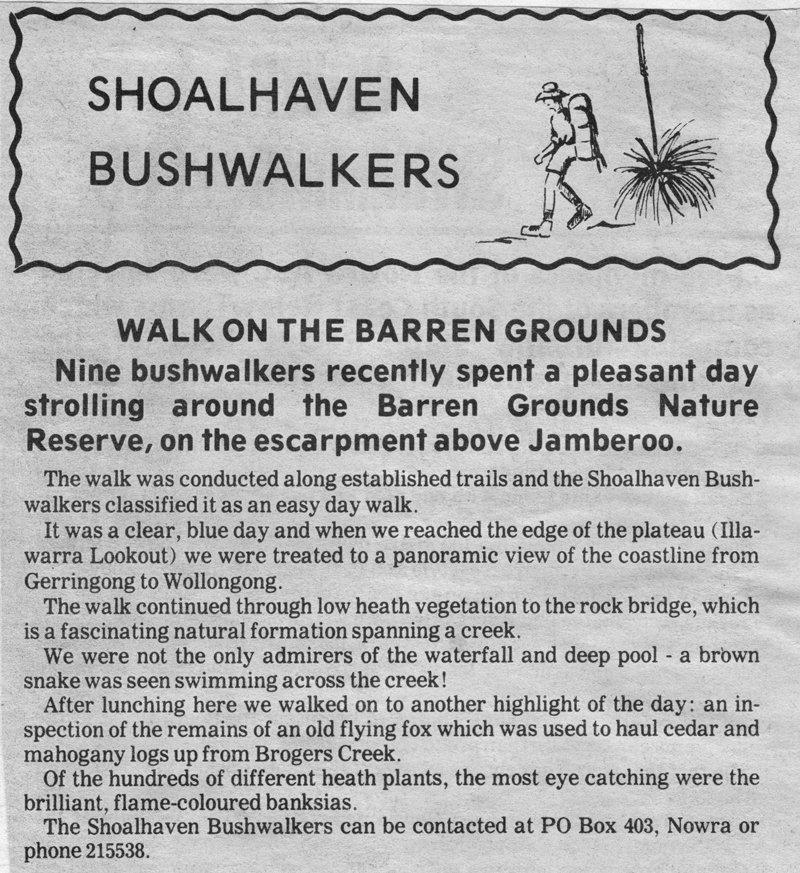 Shoalhaven Bushwalkers